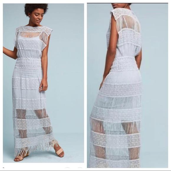 2fdfbae47c1e Anthropologie Dresses & Skirts - Anthropologie Callahan Blue Crochet Maxi  Dress